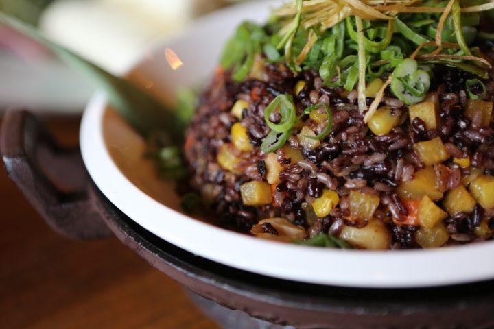 五穀米ご飯のランチ