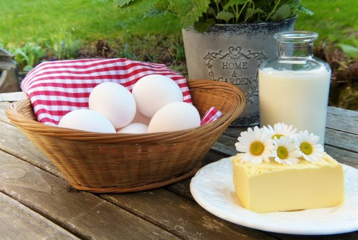 牛乳と卵とチーズ