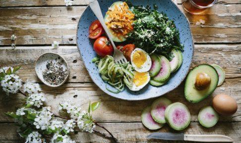 卵入りベジタリアン料理