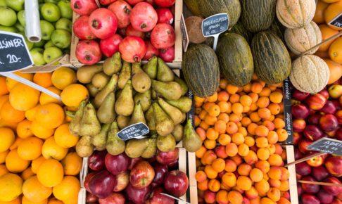 色とりどりのフルーツ