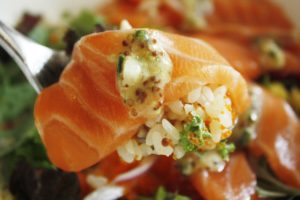 美味しそうなサーモンの寿司