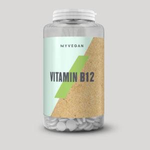 ビーガンのビタミンB12サプリ、マイプロテイン