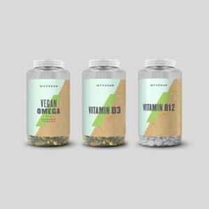 オメガ3脂肪酸、ビタミンD3、ビタミンB12の3本セット